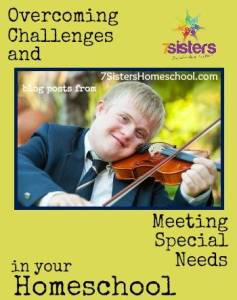 Homeschool Community: blog posts about Special Needs and Overcoming Challenges from 7SistersHomeschool.com