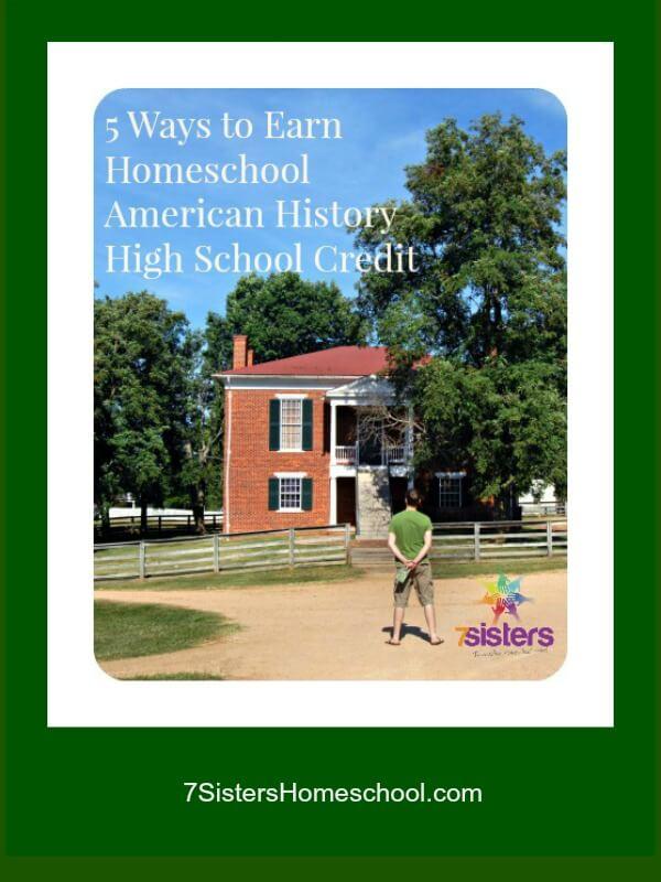homeschool American History high school credit