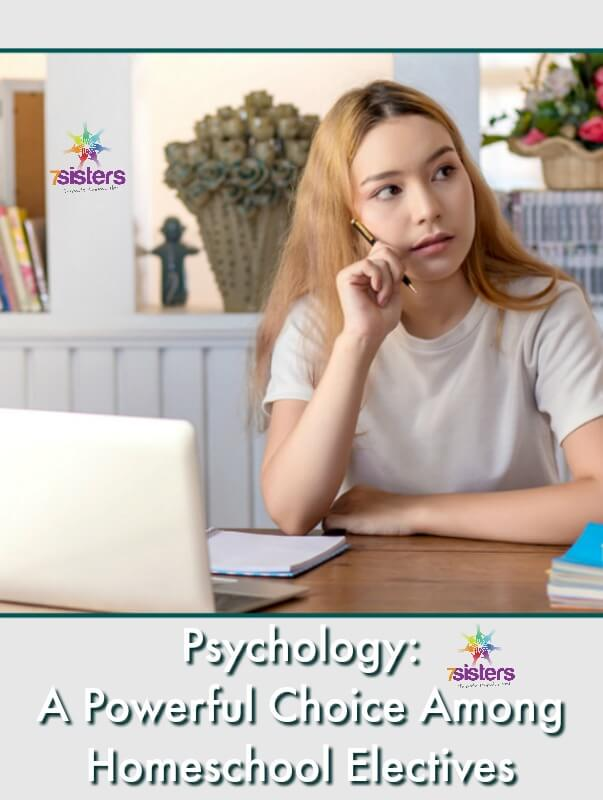 Psychology: A Powerful Choice Among Homeschool Electives. Build a stronger transcript with a user-friendly, interesting but powerful course for the homeschool transcript. #HomeschoolHighSchool #HomeschoolTranscript #HomeschoolPsychology #HomeschoolElectives