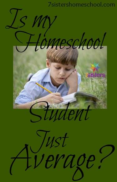 homeschool student just average