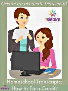 Homeschool High School Transcripts How to Earn Credits 7SistersHomeschool.com