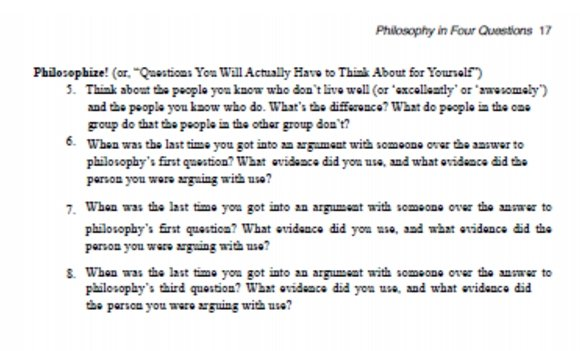 Excerpt from Philosophy in 4 Questions