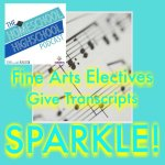 HSHSP Ep 75 Fine Arts Electives Give Transcripts SPARKLE