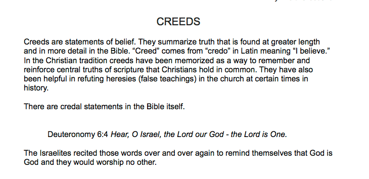 Excerpt from Hymns and Creeds Study Guide