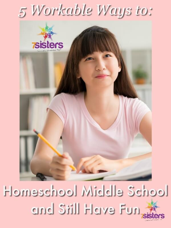 5 Workable Ways to Homeschool Middle School