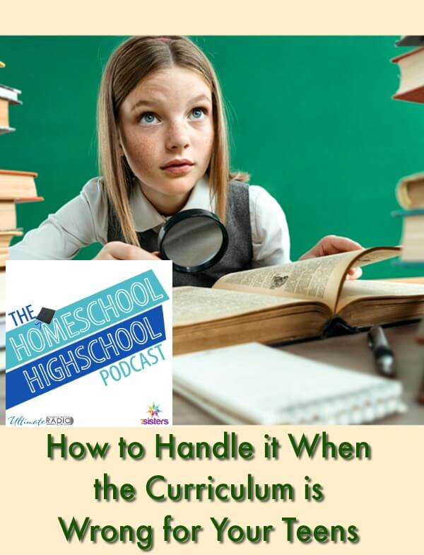 HSHSP Ep 133: How to Handle it When the Curriculum is Wrong for Your Teens We are discussing what to do when curriculum is a bad fit for your teens.