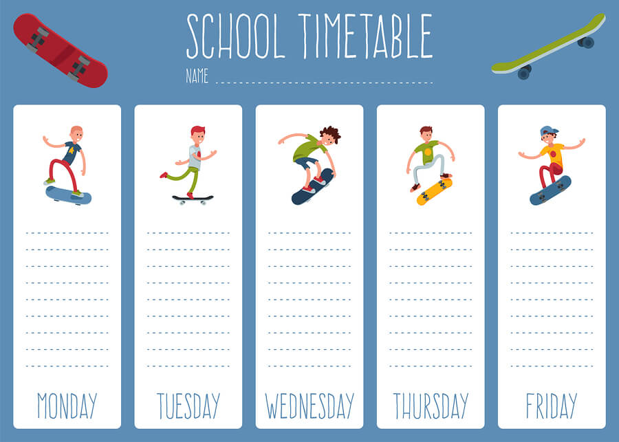 Weekly task list for homeschool high schoolers.