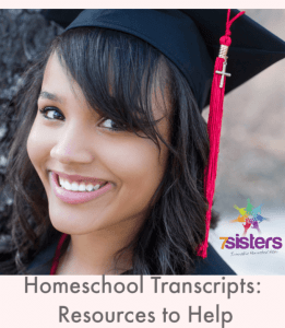 Homeschool Transcripts: Resources to Help. Give your homeschool high schoolers the transcript they need by recording their work accurately on our editable transcript, checklist and guide. #HomeschoolHighSchool #HomeschoolTranscripts #HighSchoolTranscripts #HowToCreateTranscripts #EditableTranscripts