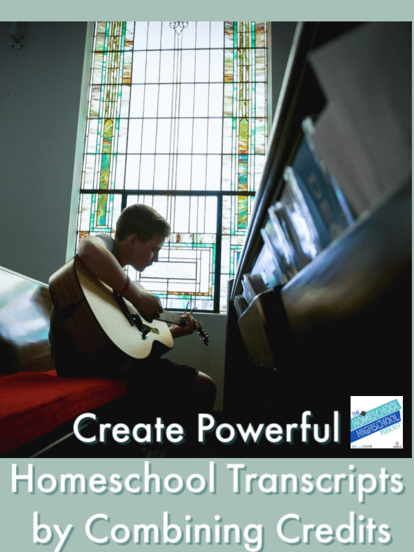 Create Powerful Homeschool Transcripts by Combining Credits. Use integrated-learning style combined credits to build a college-attractive transcript.