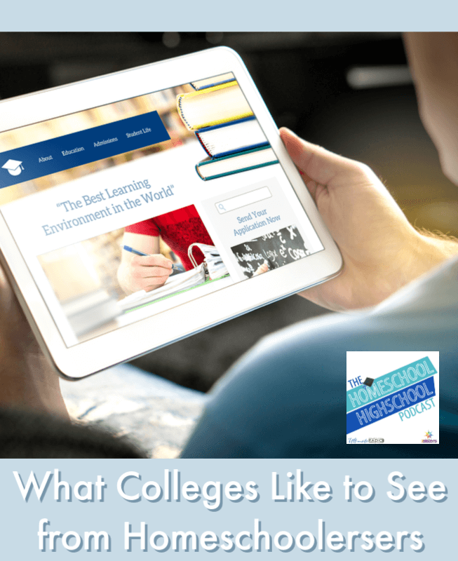 What Colleges Like to See from Homeschoolers. Homeschool high schoolers who are aiming for college get helpful tips from academic advisors Marilyn and Barb.