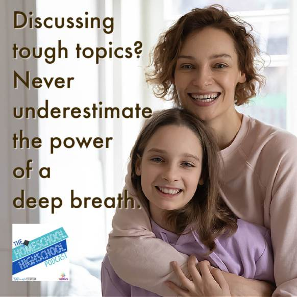 Discussing tough topics? Never underestimate the power of a deep breath.