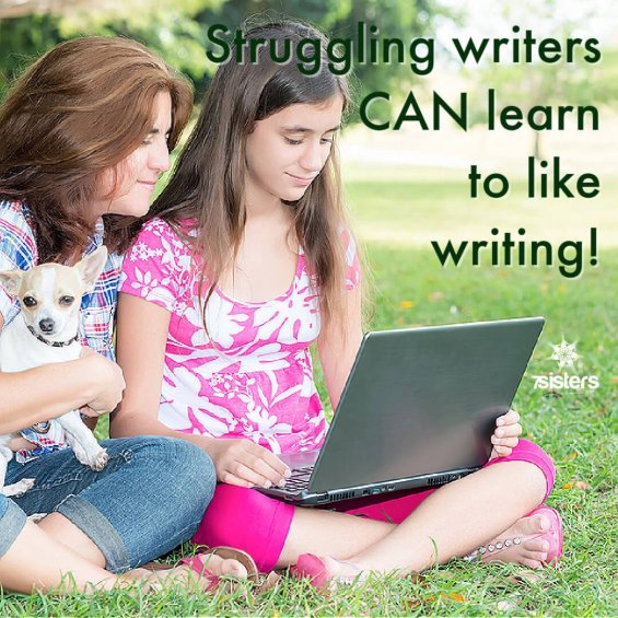Struggling writers can learn to like writing. 7SistersHomeschool can help!