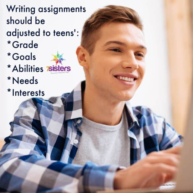 Writing assignments should be  adjusted to teens':  *Grade *Goals  *Abilities *Needs *Interests