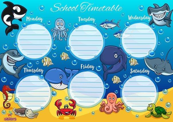 School Schedule Chart 7SistersHomeschool