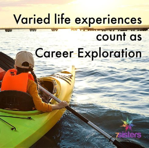 Varied life experiences count as Career Exploration.