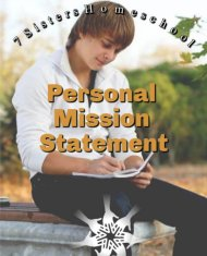 personal mission statement