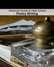 Advanced Guide to High School Poetry Writing second edition. Give your teens meaningful, not stuffy, experiences with poetry and creativity.