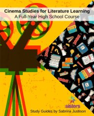 Cinema Studies for Literature Learning Curriculum: a full-year high school course forliterature learning using the medium of movies!