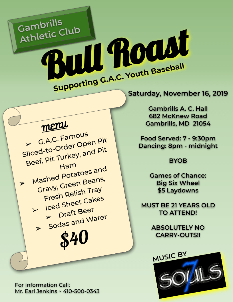 GAC Bull Roast 2019