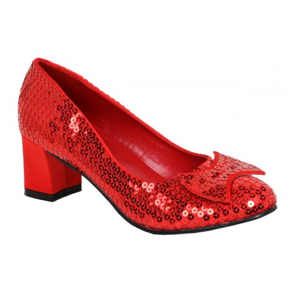 Judy Dorothy's Red Ruby Slippers Costume Shoes