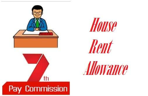 7th pay commission HRA house rent allowance State Centre Gov
