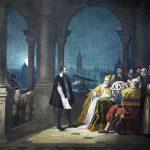 Galileo mostra il Doge Leonardo Donà il suo cannocchiale. E 'Agosto 21, 1609. Da un dipinto di H. J. Detouche