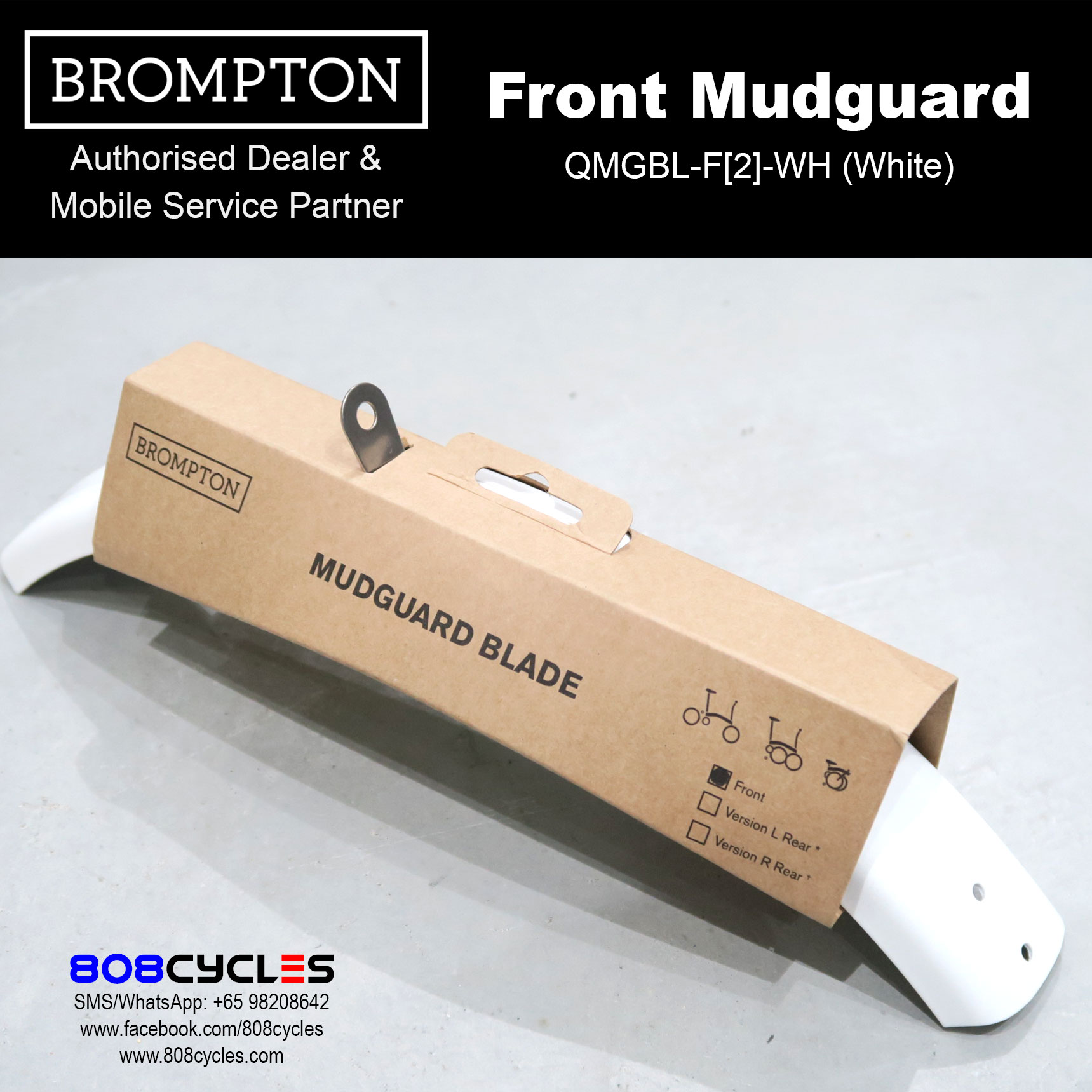 Brompton BLACK EDITION front mudguard blade and flap