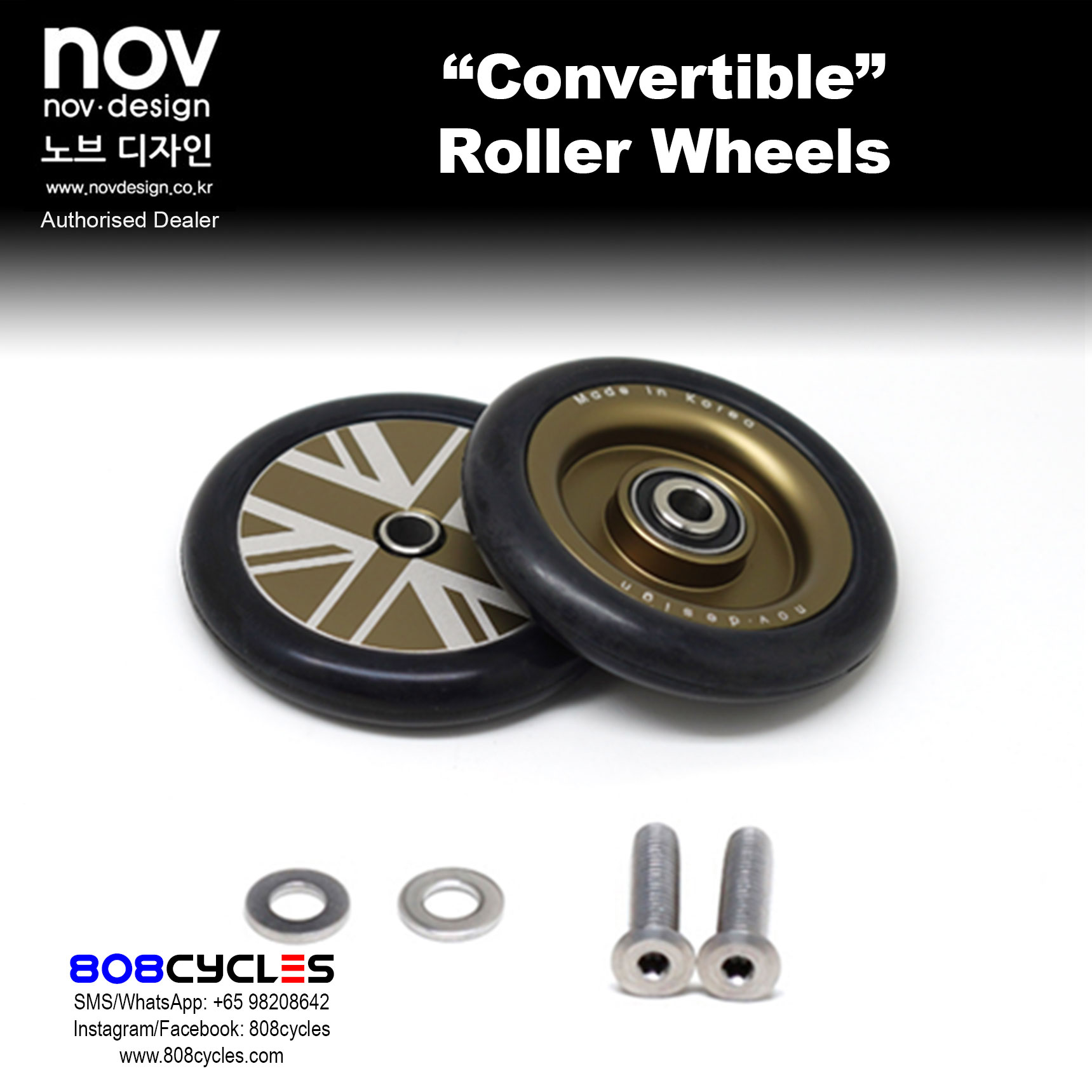 novdesign 4pcs nov wheel nov wheel CONVERTIBLE set for R-type Brompton