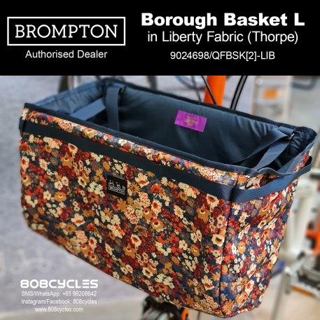 Brompton Borough Basket L in Liberty Fabric (Thorpe)