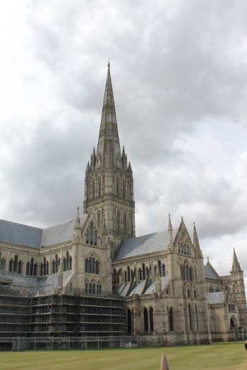 An exterior shot of Salisbury Cathedral