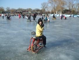 Ice Biking at Houhai 2010