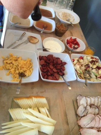 A traditional Cretan breakfast