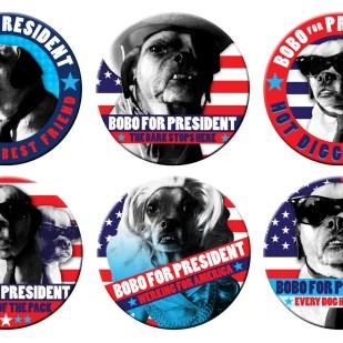 Bobo For President Buttons