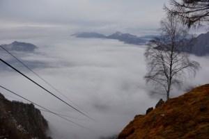 Blick von der Bergstation auf der Piani d'Erna