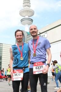HASPA Marathon Hamburg 2018 - Mit Nils und Medaille