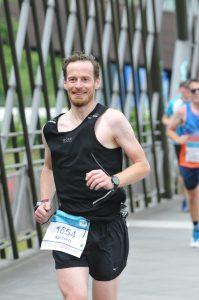 Im Nordsternpark beim VIVAWEST-Marathon 2019