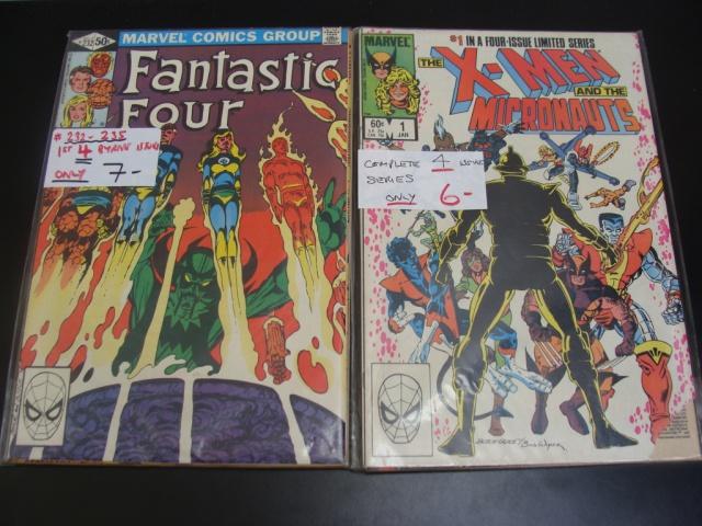 Haul FACTS X-Men Fantastic Four Micronauts