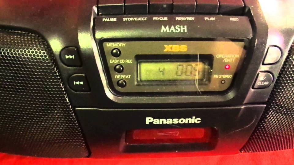 Panasonic boombox Hipsters vinyl