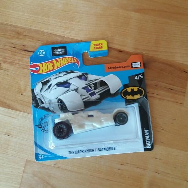 Hotwheels The Dark Knight Batmobile White