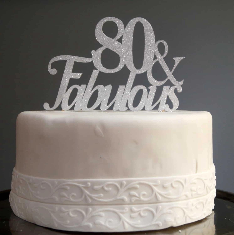 Female 80th Birthday Cake Ideas