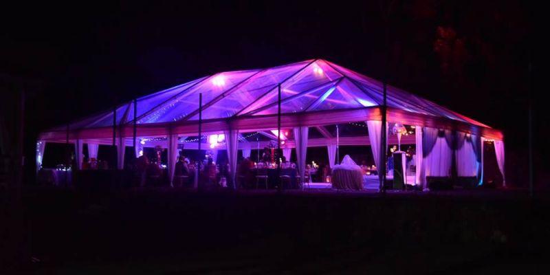 Uplighting Tent 876 Sounds Jamaica Cary Island