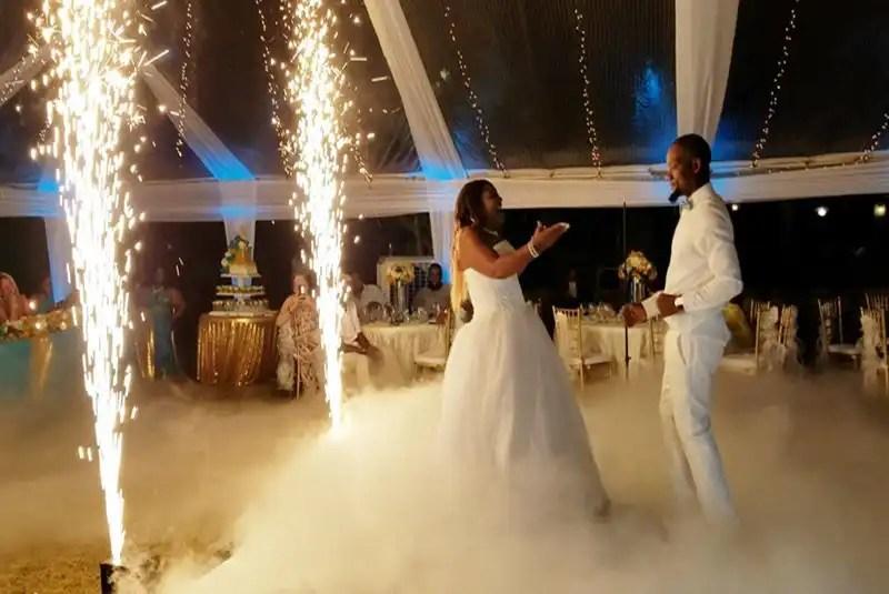 Cold Sparks FIreworks Wedding