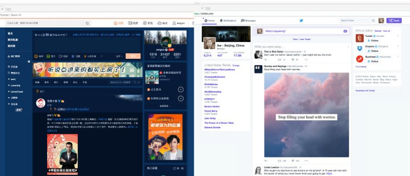 Weibo versus Twitter. Source: Aw Guo.