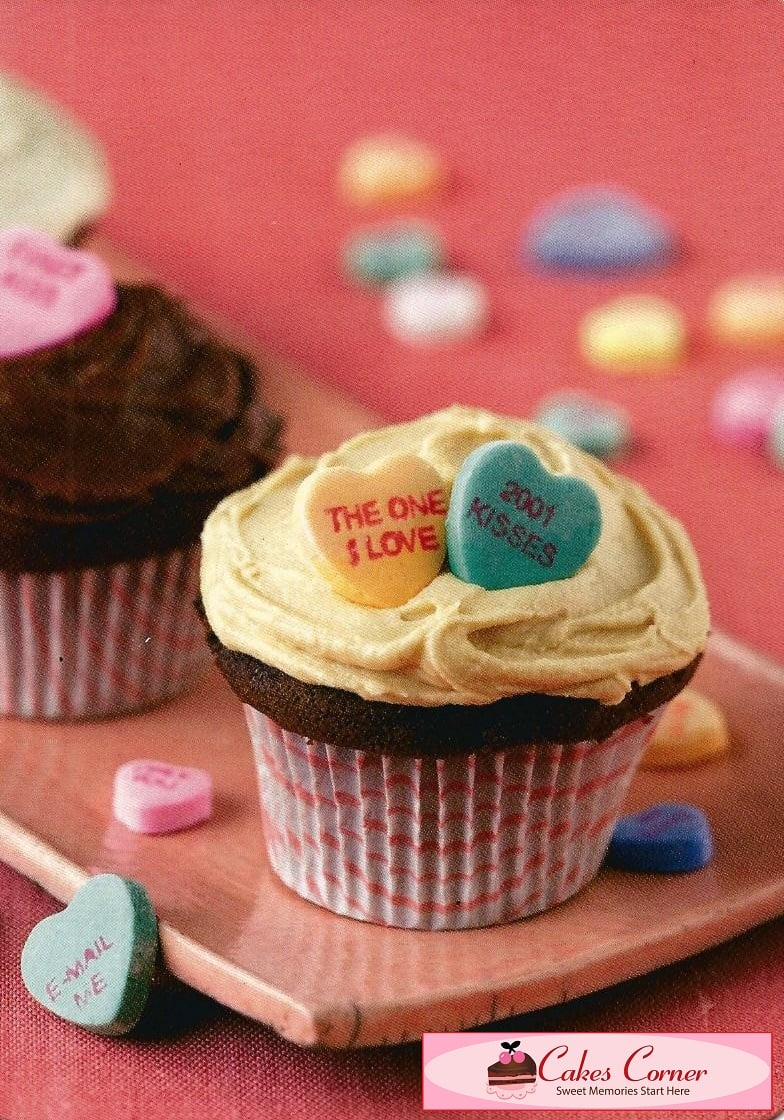 Candy Hearts Cupcakes