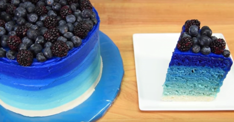 6 Layer Ombre Cake