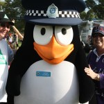 Constable Charlie the giant police penguin and Carol