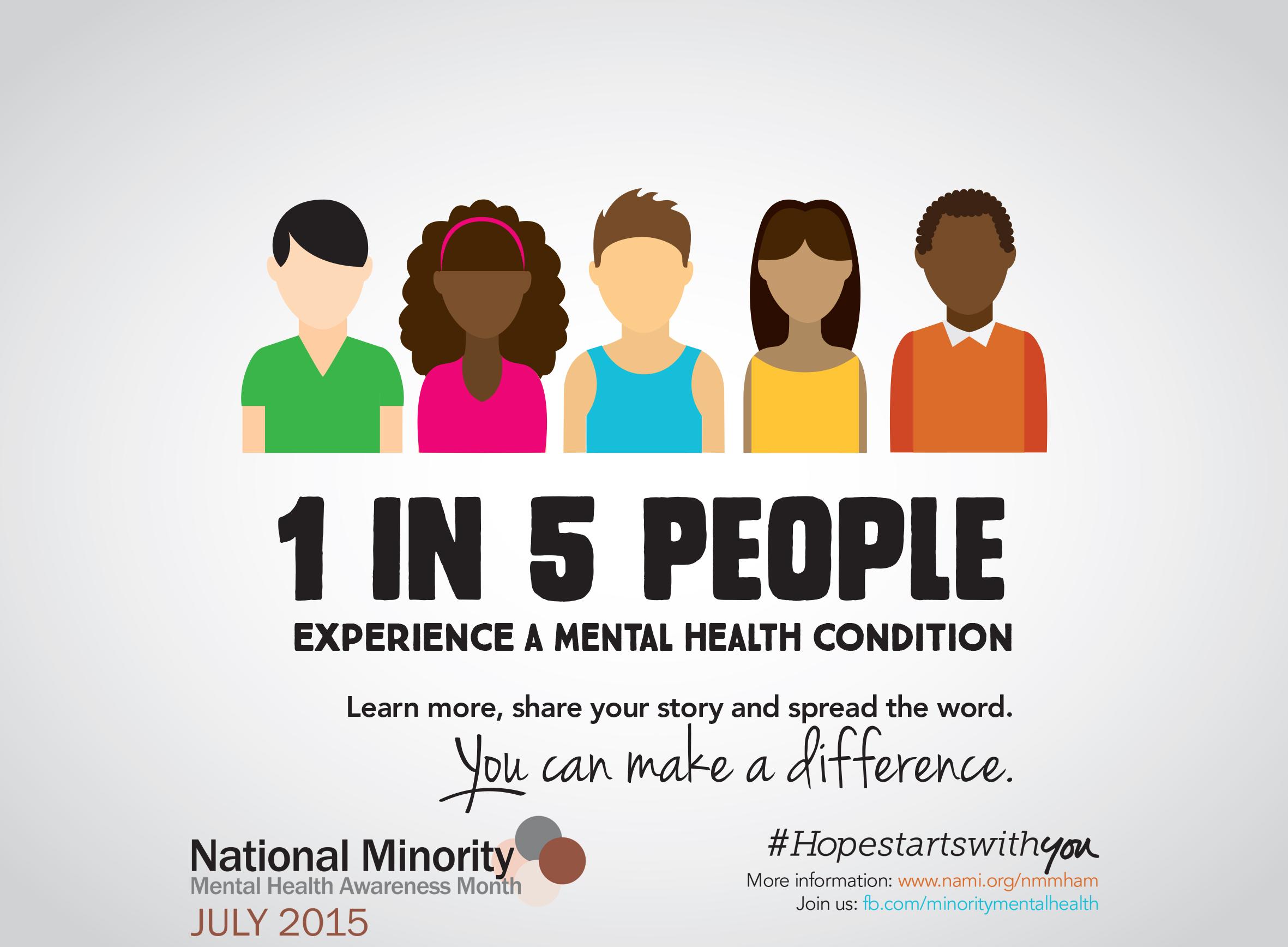 July National Minority Mental Health Awareness Month