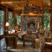 FUN Beautiful Rustic Living Room