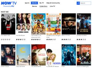 First impressions of NowTV, the UK internet movie streaming service from Sky