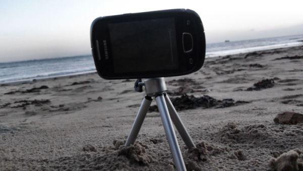 Samsung Galaxy Mini GT-S5570 on a Tripod